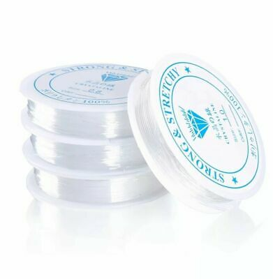£2.35 • Buy Clear Nylon Beading Elastic Stretch Wire Cord, Thread ,Jewellery Making