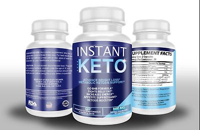 Instant Pure Keto Weight Loss Pills Ketogenic Ultra Fast Boost Supplement BHB • 28.50$