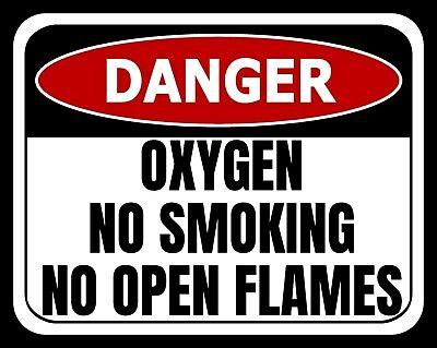 Danger Oxygen No Smoking No Open Flames Metal Plaque Tin Sign Others Listed 2143 • 6.99£