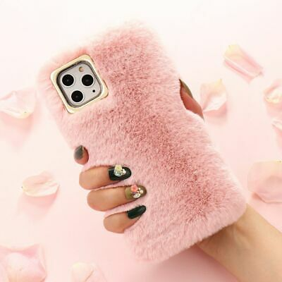 Winter Fluffy Furry Case For IPhone XR XS 7 8+ 11 Pro Faux Fur Soft Back Cover • 3.69£