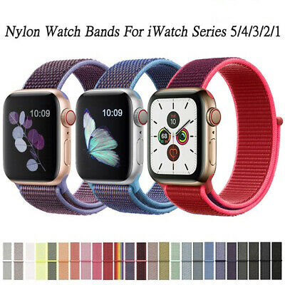 $ CDN6.99 • Buy IWatch Band Strap Nylon Soft Breathable App Watch Series 5/4/3/2/1 38/40/42/44mm