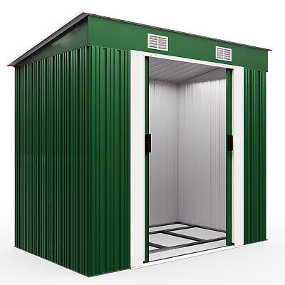 Metal Tool Shed 6x4ft Outdoor Garden Storage Galvanised Heavy Duty Container New • 199.95£