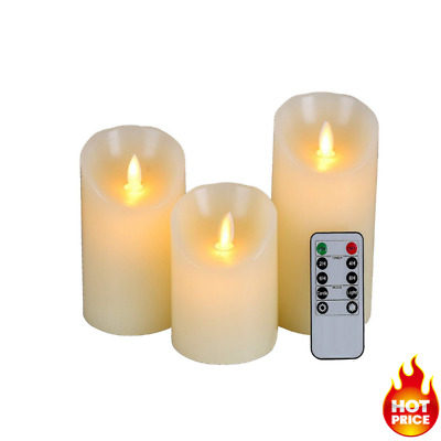 Flameless LED Candles Lights With Remote Control Realistic Dancing Flame LED  • 13.99£