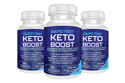 $25.20 • Buy Rapid Fast Pure Keto Boost Weight Loss Diet Pills Ketogenic Supplement BHB