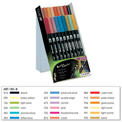 Tombow Dual Brush Pen Set Art Markers 6,12 And 18 Piece Sets • 26.46£