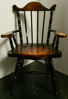 $19.99 • Buy Vintage Carved Wooden Spindle Back 16  Doll Chair 12.5  X 6.75  X 6.25  Excell