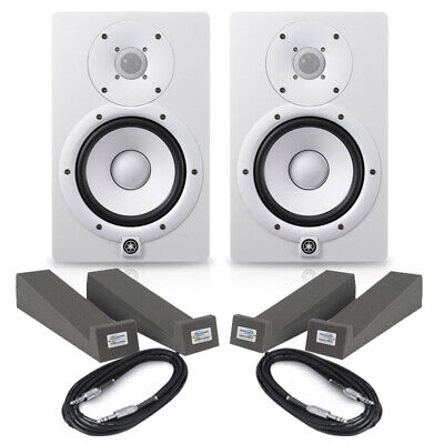 Yamaha HS5 White (Pair) With Isolation Pads & Cables • 290£