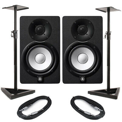 Yamaha HS5 With Samson MS200 Stands & Cables • 325.50£