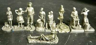 $ CDN50.20 • Buy Vintage Lot Of (9) Saturday Evening Post Pewter Figurines (1979) Excellent