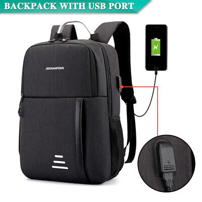 AU17.29 • Buy Water Repellent Design Anti-Theft Backpack Travel School Bags With USB Port