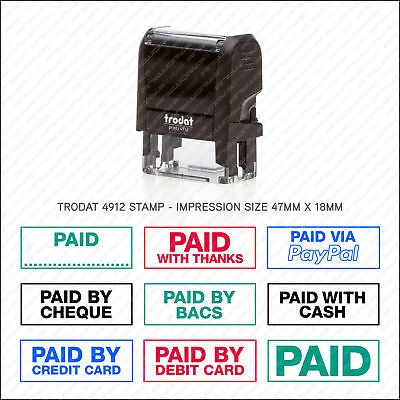 £11.50 • Buy Paid With / Refunded Rubber Stamp Accounts Business Shop Office - Trodat 4912