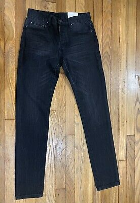 $ CDN46.97 • Buy Men's Size 28 Black Faded Tapered Ankle Zipper MNML LA Denim Jeans