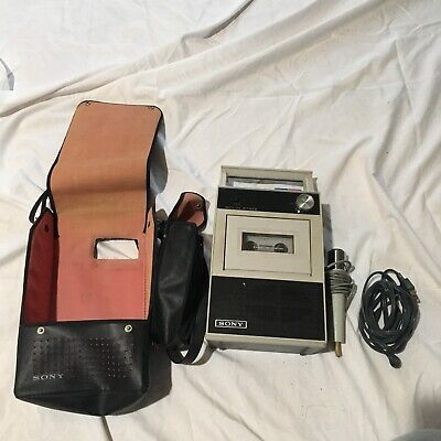 $20 • Buy Vintage Sony Tapecorder TC-18 With Carrying Case And Microphone