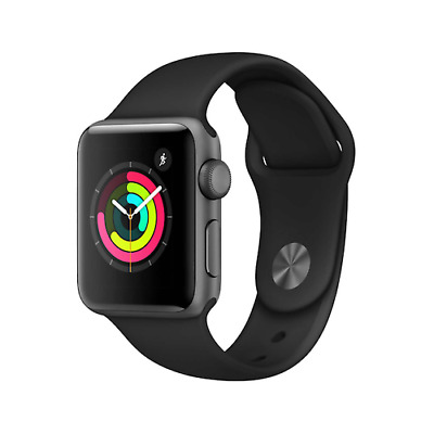 $ CDN197.33 • Buy Apple Watch Series 1 42mm Space Gray Case - Black Sport Band