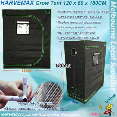 AU149 • Buy HARVEMAX Hydroponic Grow Tent 120x60x180 Heavy Duty Light Proof Diamond Mylar