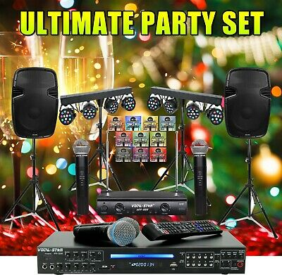 Vocal-Star Karaoke Machine System  The Ultimate Party Set  1000w Speakers • 699.99£