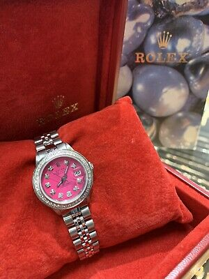 $ CDN4053.28 • Buy Ladies Rolex Oyster Perpetual Datejust Watch 6917 Stainless Steel 26mm Pink