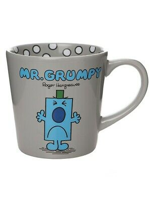 Mr Men Mug Mr Grumpy I Had Fun Once Tapered Grey 9x10cm • 12.75£