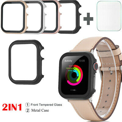 $ CDN7.02 • Buy Apple IWatch Series 5 4 3 2 1 Bumper Metal Case Cover + Clear Screen Protector