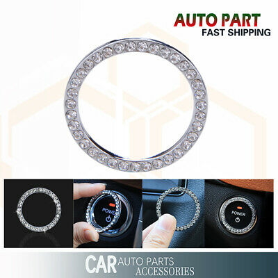 SUV Start Switch Decoration Circle Car Bling Diamond Accessories Button Ring UK • 4.59£