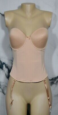 VA BIEN Nude Beige Ultra Lift Smooth Strapless Low Back Bustier 38B 1508 • 23.26£