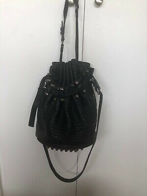 AU350 • Buy Alexander Wang Diego Bucket Bag Black Silver Hardware