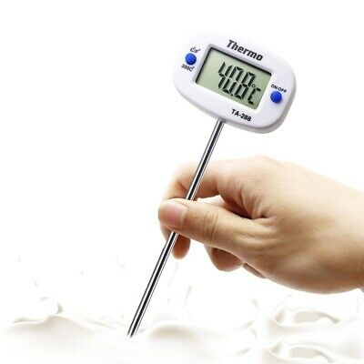 £6.46 • Buy Rotatable Digital Food Thermometer BBQ Meat Chocolate Oven Milk Oil Cooking New