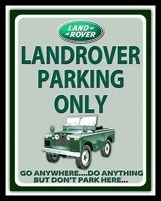 Land Rover Landrover Parking Only Defender Freelander Metal Plaque Tin Sign 716 • 6.99£