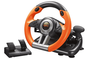 $130.99 • Buy PlayStation 4,3 Steering Wheel/Xbox One/Nintendo Switch/PC And Pedal Set Racing