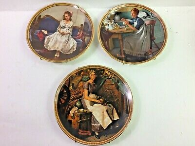 $ CDN31.02 • Buy Norman Rockwell Plates 3 From The Rediscovered Women Series Vintage Knowels