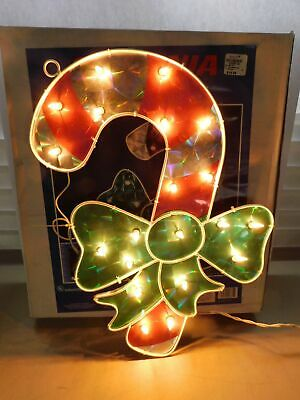 $11.24 • Buy Sylvania Holographic Candy Cane Christmas Window Decoration Indoor Outdoor Works