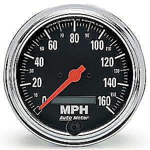 $273.69 • Buy Auto Meter 2489 Traditional Chrome Gauge 3-3/8  Speedo In-Dash LCD Electronic