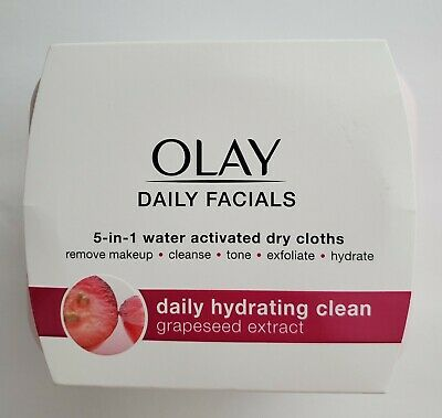 AU12.41 • Buy Olay Daily Facials Daily Hydrating Clean Grapeseed Extract New Unopened