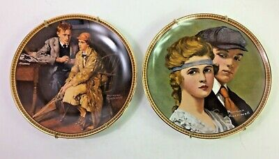$ CDN20.62 • Buy Norman Rockwell Plates Rediscovered Women Confiding In The Den &Meet On The Path