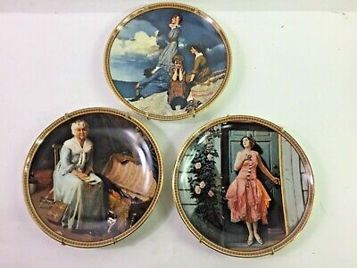 $ CDN33.52 • Buy Norman Rockwell Plates 3 Rediscovered Women Collection Vintage Knowles Limited