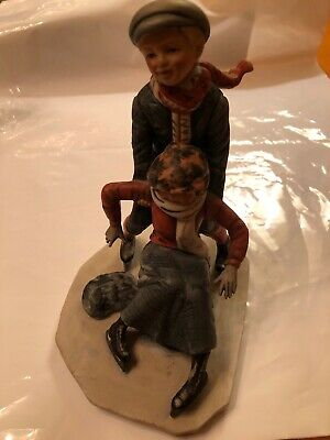 $ CDN35.99 • Buy Collectable Norman Rockwell Gorham Figurine  Skating  1974,preowned