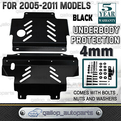 AU170 • Buy Bash Plate Fit For Nissan Navara D40 2005-2011 Underbody Protect Guard 4mm Black