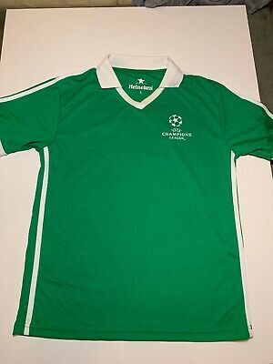 Heineken Uefa Champions League V-neck Short Sleeve Tshirt. Size L • 11.59£
