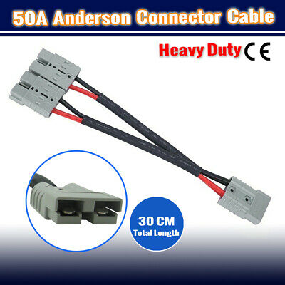 AU28.95 • Buy 2 To1 50A Amp Anderson Plug Connector Extension Cable DT Automotive Y Adapter