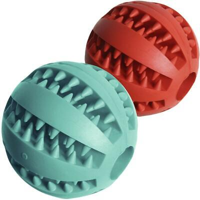 Dog Treat Ball Interactive Chew Resist Toys Teeth Cleaning Food Dispenser Feeder • 5.79£