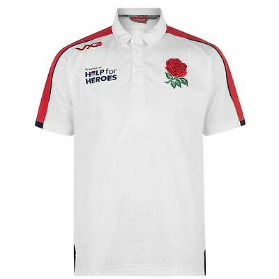 £29.99 • Buy VX3 Help For Heroes England Rugby Men's Polo Shirt 2019/20 (Embroidered Badge)