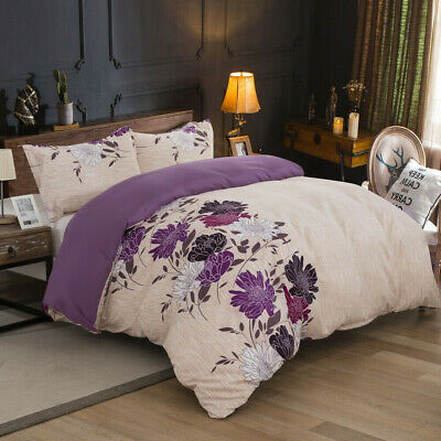 AU39 • Buy All Size Bed Ultra Soft Quilt Duvet Doona Cover Set Sheet Pillowcase Floral