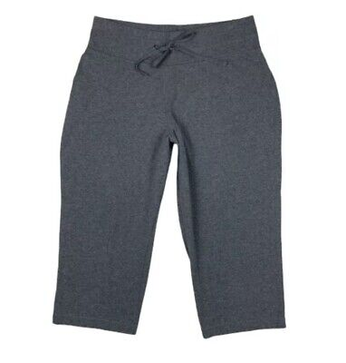 $9.99 • Buy Tek Gear Women Large Athletic Capri Pants Fitted Stretch Activewear Gym Gray