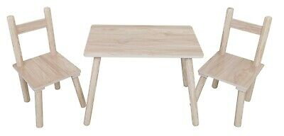 Kiddi Style Childrens Wooden Table And Chair Set - Kids Toddlers Childs -Natural • 44.99£