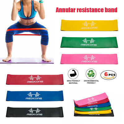 AU8 • Buy 6PCS Resistance Loop Bands Crossfit Strength Mini Band GYM Fitness Exercise