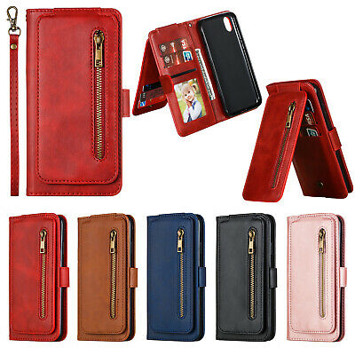 AU21.98 • Buy For Huawei Y5 Y6 Y7 Pro Y9Prime 2019 Leather Zipper Card Slots Wallet Case Cover