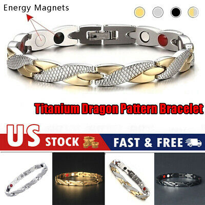 $5.95 • Buy Men Women Therapeutic Energy Healing Magnetic Bracelet Therapy Arthritis Jewelry