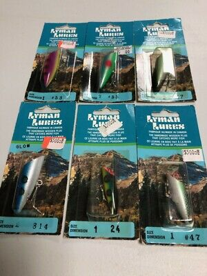 $ CDN200 • Buy 6 Vintage Mini Lyman Lures With Packaging