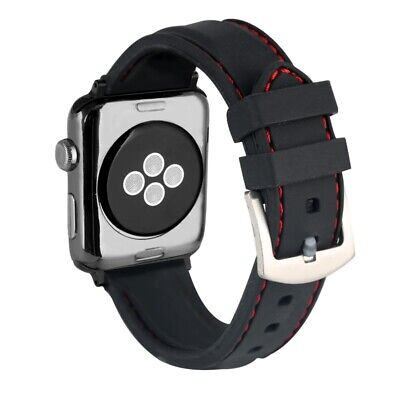 $ CDN4.06 • Buy Watch Band For Apple Watch Series 4 3 2 1 38MM 42MM Soft Silicone Replacement