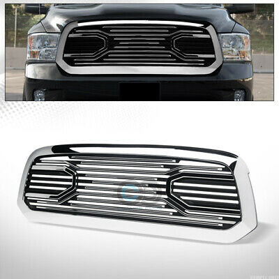 $190.95 • Buy Fit 13-18 Dodge Ram 1500 Chrome Big Horn Style Front Bumper Grille Guard W/Shell